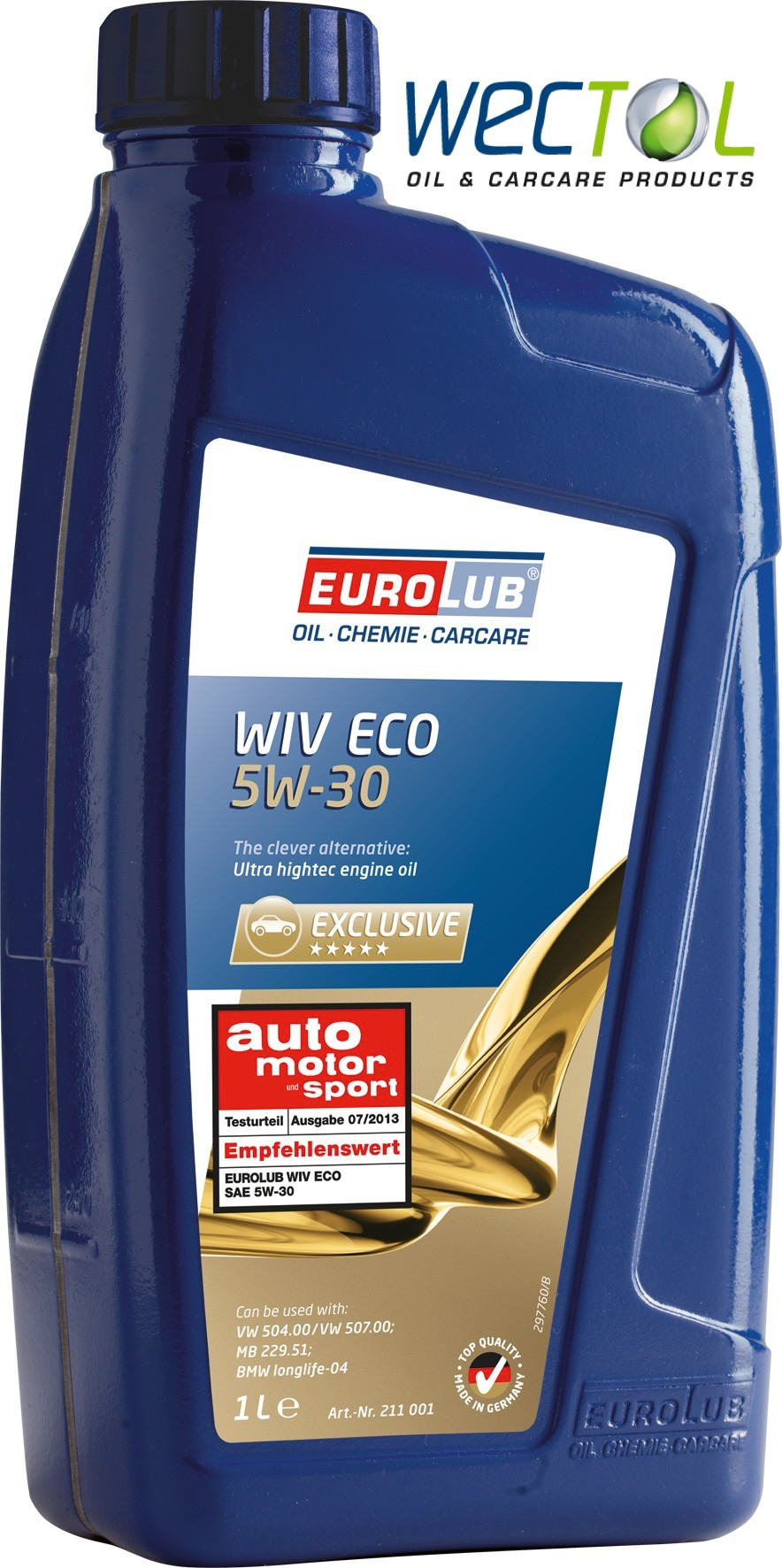 eurolub wiv eco sae 5w 30 motor l 5w30 vw. Black Bedroom Furniture Sets. Home Design Ideas